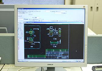 コンピューターCAD画面