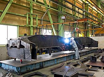 クレーン用走行フレーム/高張力鋼の溶接